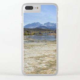 Mono Lake Tufa, No. 4 Clear iPhone Case