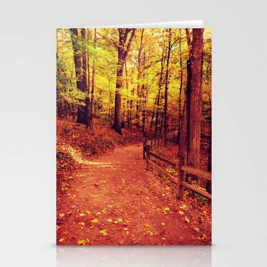 Follow Me Into Fall 2 Stationery Cards
