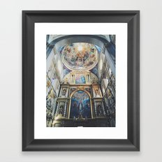 Cathedral Puebla Mexico Framed Art Print