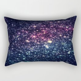 Galaxy Stars : Subtle Purple Mauve Pink Teal Rectangular Pillow