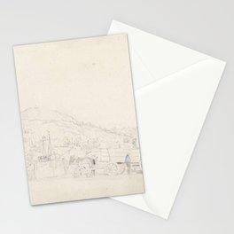 Eugne Boudin - Gezicht op een kleine Bretonse haven Stationery Cards
