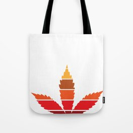 Marijuana Leaf Vintage Retro Sunset Inspired Design design Tote Bag