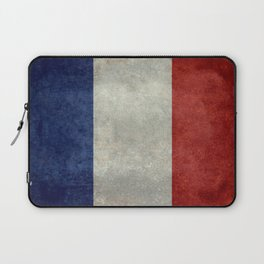 French Flag with vintage textures Laptop Sleeve