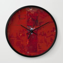 Red Solomon Wall Clock