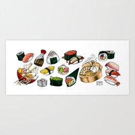 Sushi White Kunstdrucke