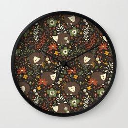 Cute Hedgehogs Wall Clock
