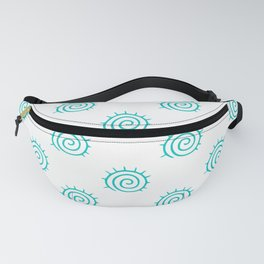Aqua Spiral Abstract Pattern Fanny Pack