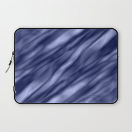 A interweaving cluster of blue bodies on a yellow background. Laptop Sleeve