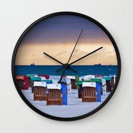 BEACH CHAIRS on the BALTIC SEA Wall Clock