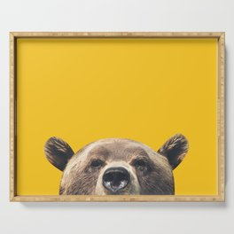 Bear - Yellow Serving Tray