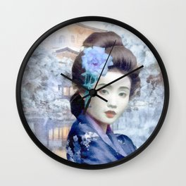 Frozen Rose Wall Clock