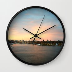 Stockholm Sunset Wall Clock