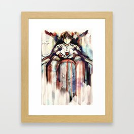 Mother is the First Other - Shinji Ikari Evangelion Painting Framed Art Print