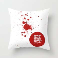 Dexter no.6 Throw Pillow