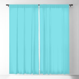 From The Crayon Box – Turquoise Blue - Bright Blue Solid Color Blackout Curtain