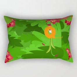 q for quetzal Rectangular Pillow
