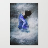 ghost world Canvas Prints featuring Ghost by Maria Amore