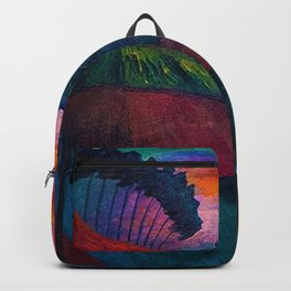 'Farmer on his Way Home at Sunrise' mountain landscape by Marianne von Werefkin Backpack