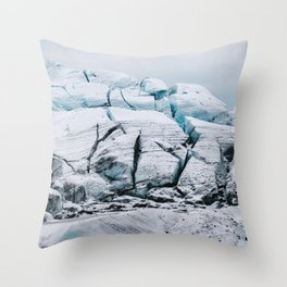 Glacial World of Iceland - Landscape Photography Throw Pillow