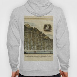 Vintage Print - A Comparative View of the Lengths of the Principal Rivers of Scotland (1822) Hoody