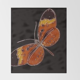 Untitled Butterfly 3 Throw Blanket