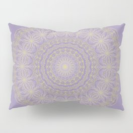 Lotus Mandala in Lavender and Gold Pillow Sham