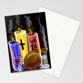 ACHE'    (BLK) Stationery Cards