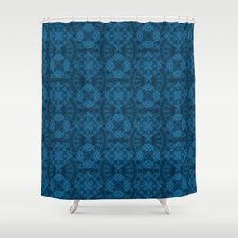 Blue patchwork 2 Shower Curtain