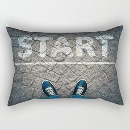 a new start Rectangular Pillow