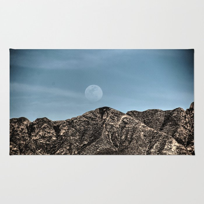 Moon over the Franklin Mountains Rug