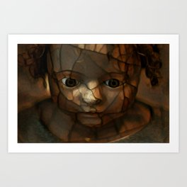 Old Doll Face Art Print