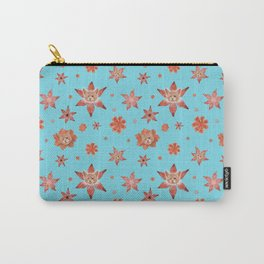 Cats on flowers with sky blue background Carry-All Pouch