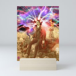 Electric Scientist Mini Art Print