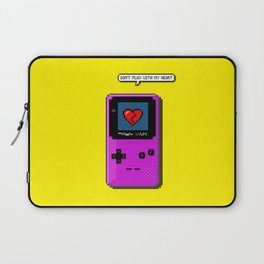 Don't Play With My Heart Laptop Sleeve