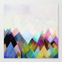 mountain Canvas Prints featuring Graphic 104 by Mareike Böhmer