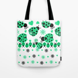 Cute Ladybugs green Tote Bag