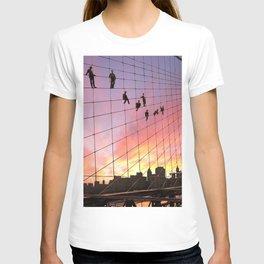 Brooklyn Bridge Painters Quitting Time T-shirt