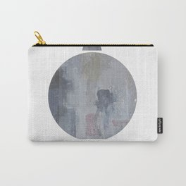 Abstract shapes illustration marble texure art print Carry-All Pouch