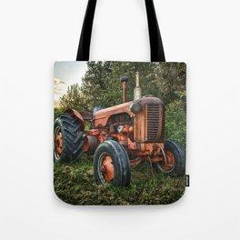 Vintage old red tractor Tote Bag