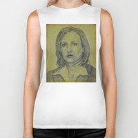 scully Biker Tanks featuring Scully by Jenn