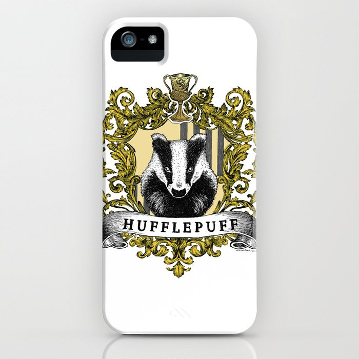 hufflepuff color crest iphone case