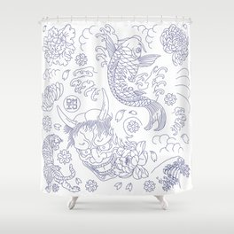 Japanese Tattoo Shower Curtain