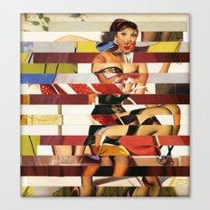 Glitch Pin-Up Redux: Emma Canvas Print