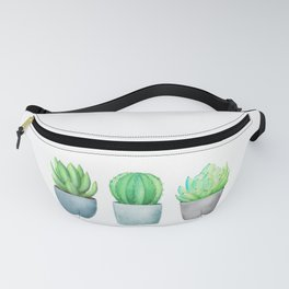 Succulent and Cacti Potted Garden Trio Fanny Pack