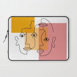 COLOR BLOCK FACES Laptop Sleeve