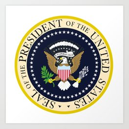 US Presidential Seal Art Print
