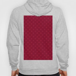 Crimson Red on Burgundy Red Snowflakes Hoody