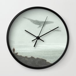 Flying Whales Wall Clock