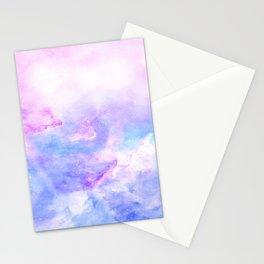 Lavander pink galaxy Stationery Cards
