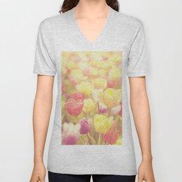 life isn't a tiptoe through the tulips ... Unisex V-Neck